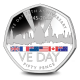 75th Anniversary of VE DAY - 2020 Coloured Proof Sterling Silver 50p