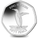 South Georgia and South Sandwich Islands: King Penguin - 2020 Proof Sterling Silver 50p