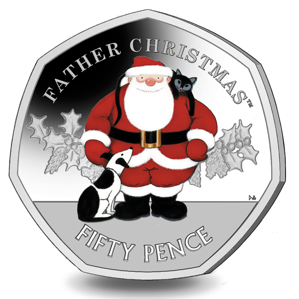 Father Christmas Has Arrived at Pobjoy Mint - 2019 Christmas 50 Pence Coin OUT NOW!