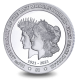 Centenary of the Transition of the Morgan Dollar to the Peace Dollar - 2021 Unc. Cupro Nickel $1 Coin - BVI