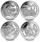 2020 Tokyo Summer Olympics - 4 Coin Set - 2020 Proof Sterling Silver - BVI