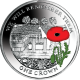 Ascension Island 2014 - Centenary of World War I: Cemetery of the Somme - Coloured Cupro Nickel Coin