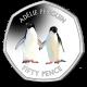 British Antarctic Territory Penguins 50p Series: Adelie - 2019 Coloured Cupro Nickel Diamond Finish
