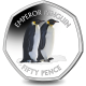 British Antarctic Territory Penguins 50p Series: Emperor - 2019 Coloured Cupro Nickel Diamond Finish