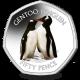 British Antarctic Territory Penguins 50p Series: Gentoo - 2019 Coloured Cupro Nickel Diamond Finish