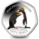 British Antarctic Territory Penguins 50p Series: Macaroni - 2019 Coloured Cupro Nickel Diamond Finish