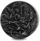 Mythical Creatures: Hydra - 2018 2oz Proof Fine Silver High Relief with Antique Finish Coin