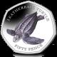 British Indian Ocean Territory Turtles 50p Series: Leatherback Turtle 2019 Coloured Cupro Nickel Diamond Finish