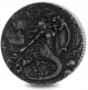 Mythical Creatures: The Siren - 2018 2oz Proof Fine Silver High Relief with Antique Finish Coin