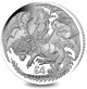 Warrior and Dragon - 2019 2oz Proof Fine Silver High Relief  Coin