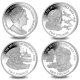 80th Anniversary of the Second World War - The Airman, The Sailor, and The Soldier Complete Set - 2019 Proof Sterling Silver