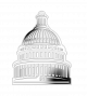 Capitol Building Shaped Coin - 2017 Uncirculated Nickel Silver $1 Coin