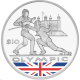 British Virgin Islands 2012 - Olympic Collection: Fencing - Coloured Proof Sterling Silver Coin