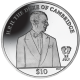 British Virgin Islands 2013 - Prince George's Christening: Duke - Proof Sterling Silver Coin