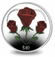 A Heart of Roses - 2015 Coloured Proof Sterling Silver Coin
