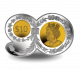 Queens 90th Birthday: 90 Shaped Coin - 2016 Proof Fine Silver Gold Plated $10