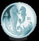 Seahorse - 2017 Turquoise Titanium Coin
