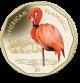 Flamingos Series: American Flamingo - 2019 Coloured Virenium Coin