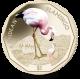 Flamingos Series: Andean Flamingo - 2019 Coloured Virenium Dollar Coin