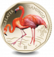 Flamingos Series: Greater Flamingo - 2019 Coloured Virenium Coin
