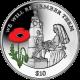 British Virgin Islands 2014 - Centenary of World War I: Nurse Edith Cavell - Coloured Silver Coin