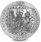 Queen Elizabeth II Sapphire Coronation: Coat of Arms - 2018 Proof Sterling Silver Coin