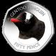 Falklands Penguins II 50p Series: Gentoo - 2018 Coloured Cupro Nickel Diamond Finish