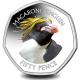 Falklands Penguins II 50p Series: Macaroni - 2018 Coloured Cupro Nickel Diamond Finish