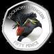 Falklands Penguins II 50p Series: Southern Rockhopper - 2018 Coloured Cupro Nickel Diamond Finish