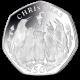 Falklands Christmas Penguins 50p Coin - 2017 Proof Sterling Silver Piedfort