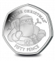 Gibraltar Father Christmas 50p Coin - 2018 Proof Sterling Silver Piedfort