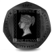 180th Anniversary of the Penny Black Stamp - 2020 Proof Sterling Silver 50p with Pearl Black Finish