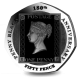 180th Anniversary of the Penny Black Stamp - 2020 Proof Silver Piedfort 50p with Pearl Black Finish