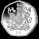 Bi-Centenary of Queen Victoria: Official Coat of Arms - 2019 Silver Piedfort 50p