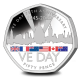 75th Anniversary of VE DAY - 2020 Coloured Proof Silver Piedfort 50p