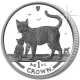 Isle of Man 2002 - Bengal Cat and Kitten - Proof Fine 999. Silver Coin