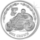 Isle of Man 2005 - TT Races celebrate the Italian Connection: Pasolini - Cupro Nickel Coin
