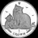 Isle of Man 2013 - The Siberian Cat - Uncirculated Cupro Nickel Crown