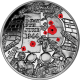 Isle of Man 2014 - 70th Anniversary of D-Day - Coloured Proof Sterling Silver Coin
