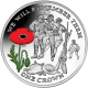 Isle of Man 2014 - Centenary of World War I: Christmas Day 1914 - Coloured Sterling Silver Coin