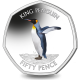 South Georgia and South Sandwich Islands Penguin 50p Series: King - 2020 Coloured Cupro Nickel Diamond Finish
