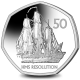 HMS Resolution - 2020 Uncirculated Cupro Nickel Diamond Finish 50p