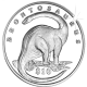 Sierra Leone 2006 - Lost World of the Dinosaurs: Brontosaurus - Uncirculated Cupro Nickel Coin