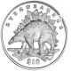 Sierra Leone 2006 - Lost World of the Dinosaurs: Stegosaurus - Uncirculated Cupro Nickel Coin