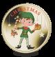 2016 Christmas Elf - Coloured Virenium Medal in Presentation Pouch