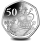 The Queens 95th Birthday: Crown Jewels - 2021 Unc. Cupro Nickel Diamond Finish 50p Coin - BAT