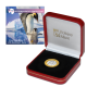 30th Anniversary of Environmental Protocol: Emperor Penguins - 2021 Proof Fine Silver with Goldclad® £1 Coin - BAT