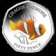 Sea Creatures: Chagos Anemone - 2021 Unc. Cupro Nickel Diamond Finish Coloured 50p Coin - BIOT