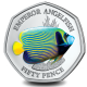 Sea Creatures: Emperor Angelfish - 2021 Proof Sterling Silver Coloured 50p Coin - BIOT