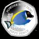 Sea Creatures: Powder Blue Tang - 2021 Unc. Cupro Nickel Diamond Finish 50p Coin - BIOT